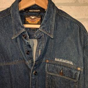 Harley Davidson jean shirt large